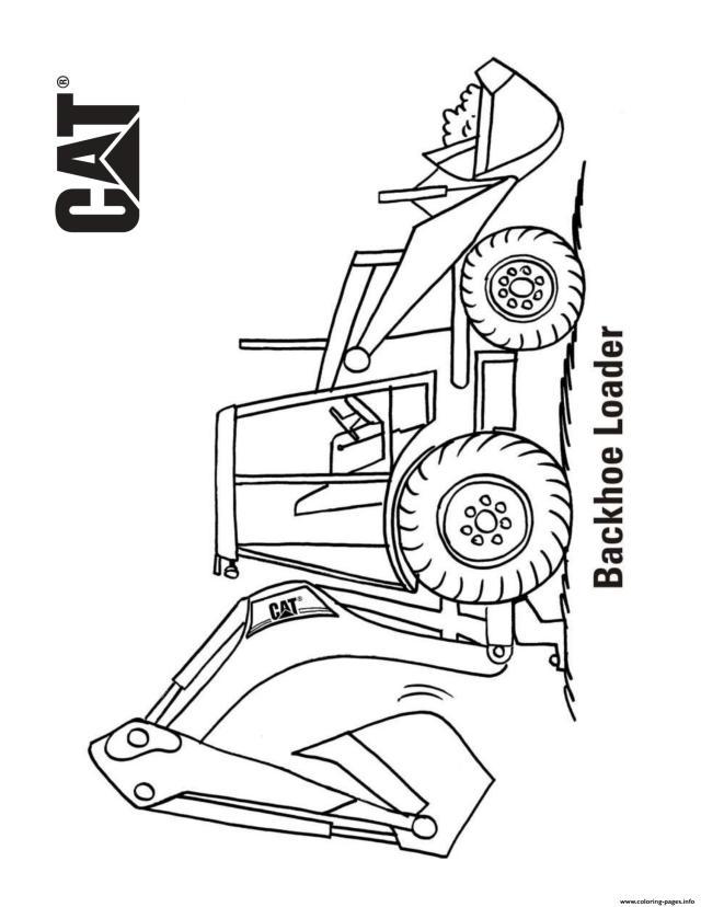 Backhoe Loader Truck Coloring Pages Printable