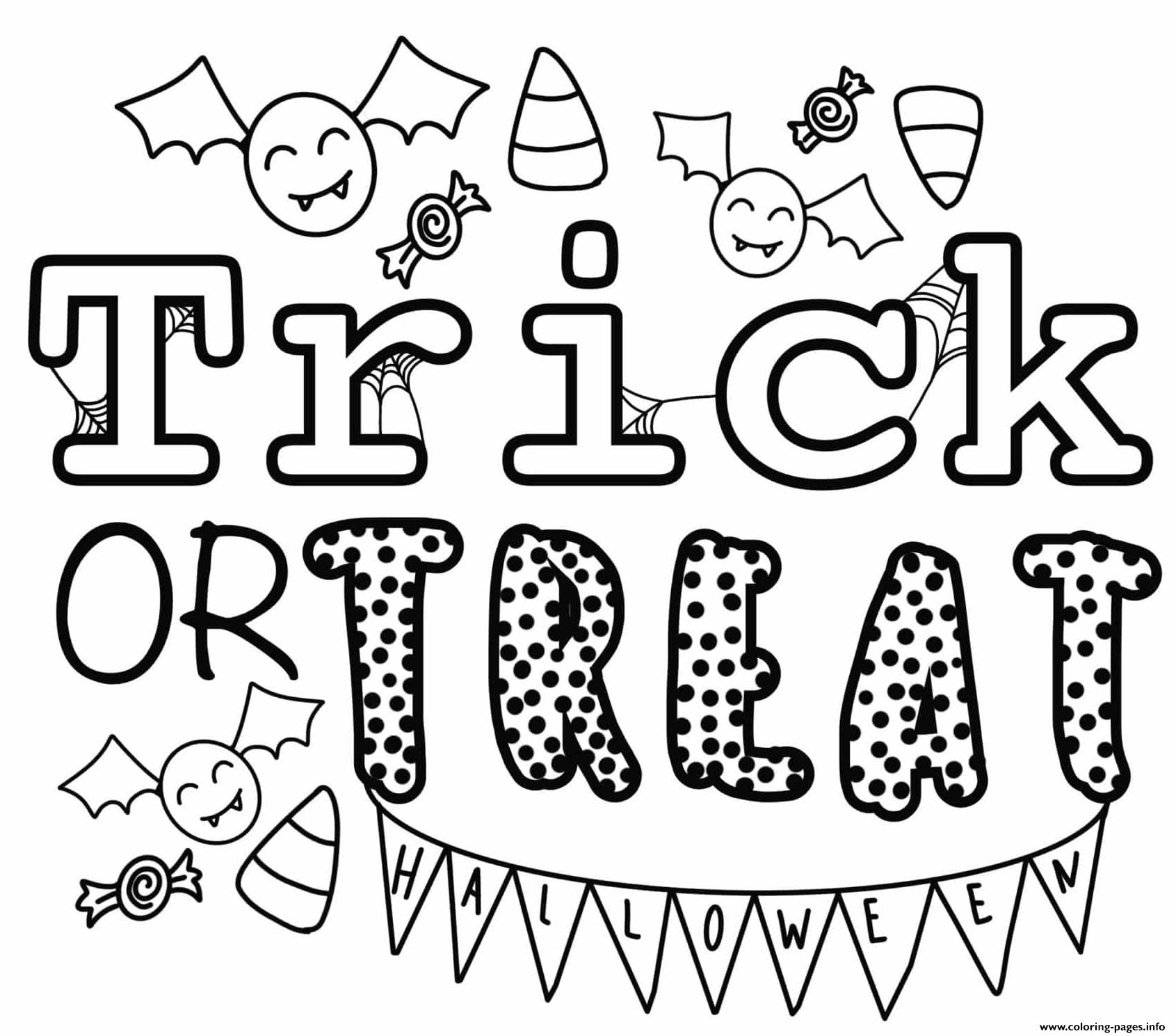 Trick Or Treat Halloween By Heather Hinson Coloring Pages