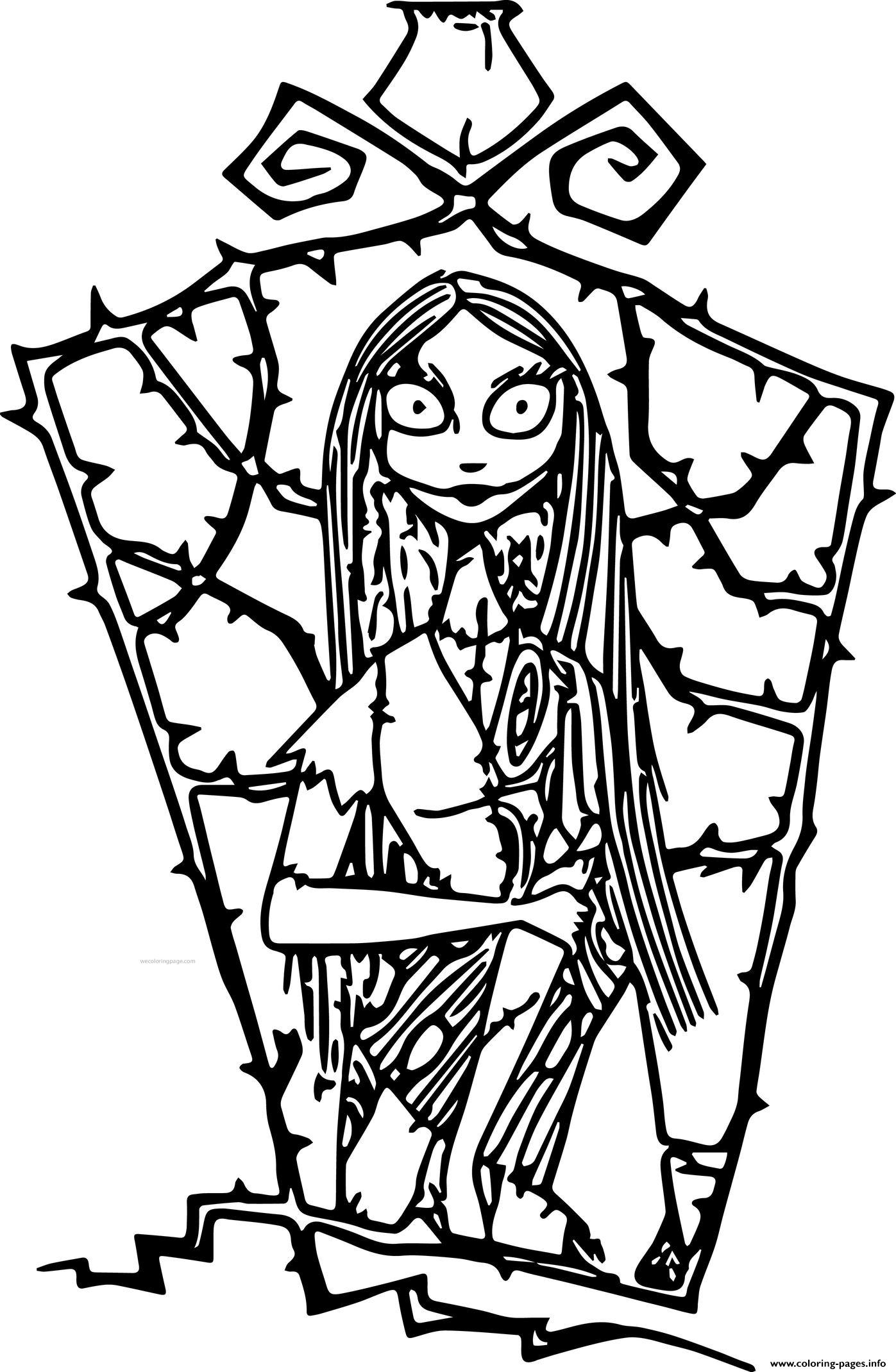 The Nightmare Jack And Sally Disney Coloring Pages Printable
