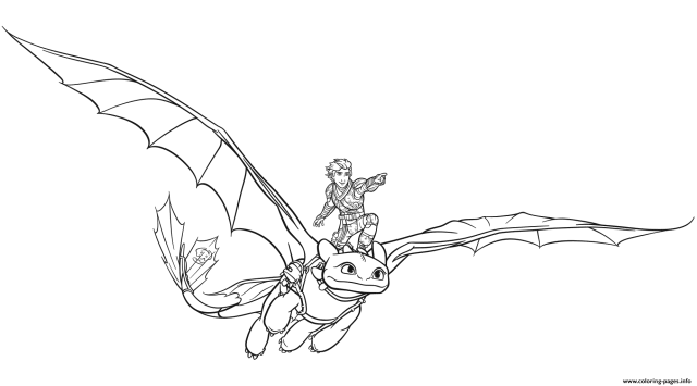 Toothless Smartest Dragon Coloring Pages Printable