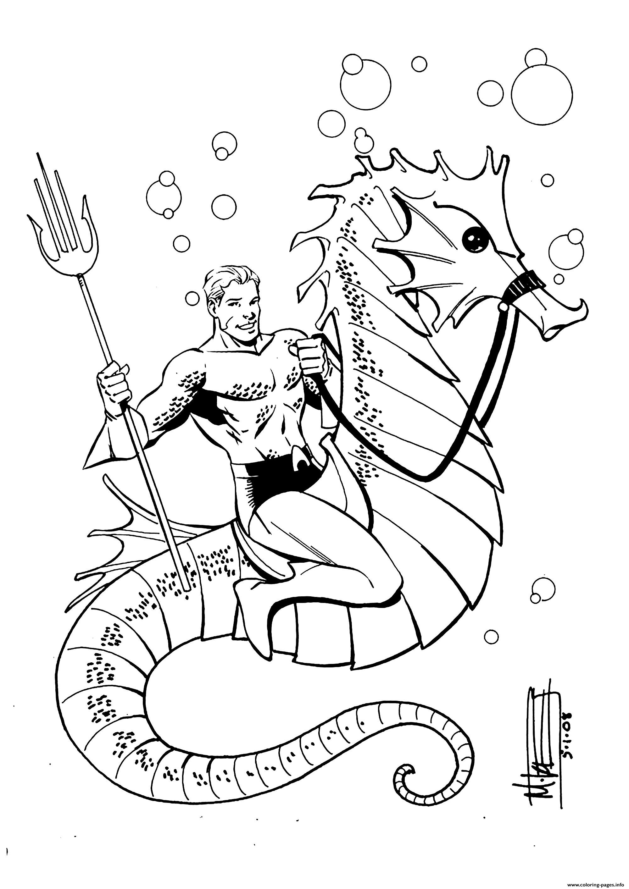 Aquaman Dc For Children Coloring Pages Printable