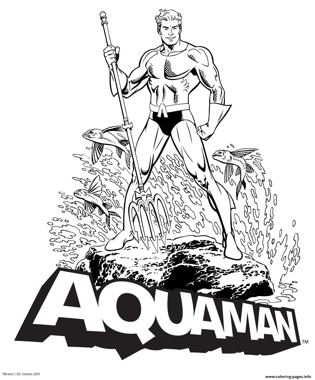 Aquaman Dc Comics Coloring Pages Printable
