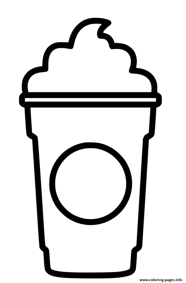 Design Starbucks Cup Cream Coloring Pages Printable