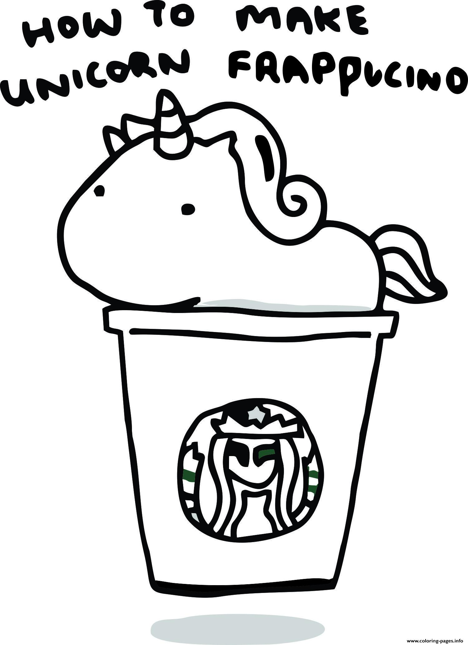 How To Make Unicorn Frappucino Starbucks Coloring Pages