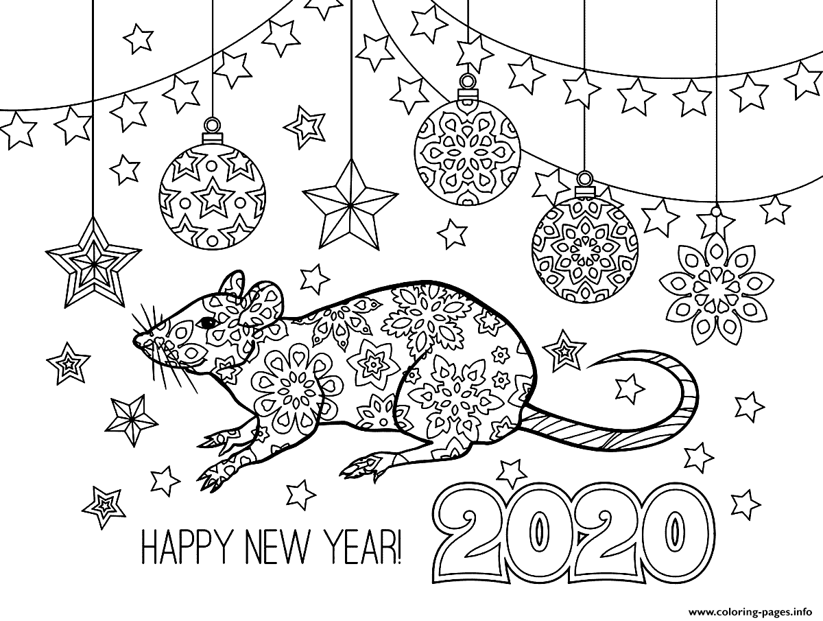 Year Of The Metal Rat Page Coloring Pages Printable