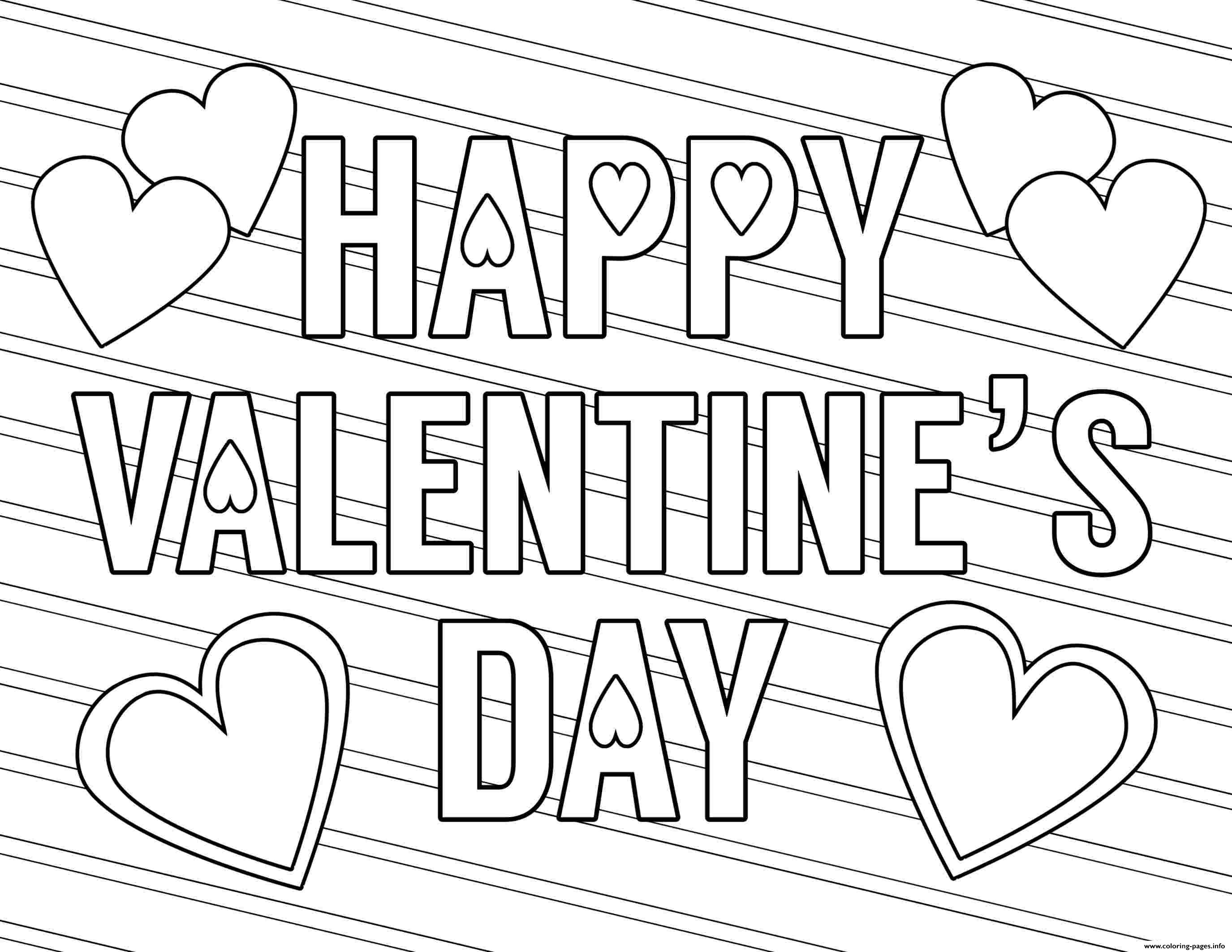 Happy Valentines Day Free Love Coloring Pages Printable