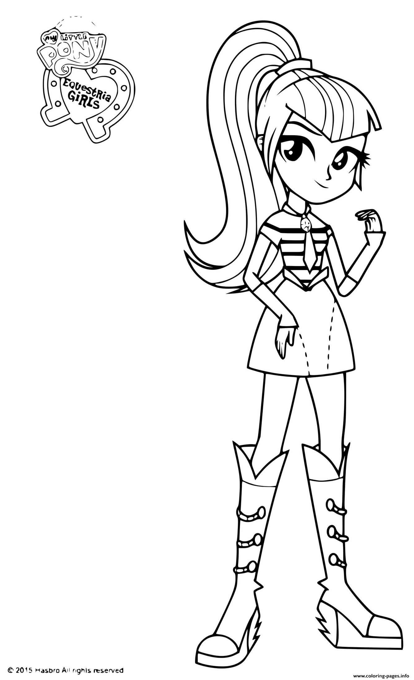 My Little Pony Equestria Girls Sonata Dusk Coloring Pages Printable