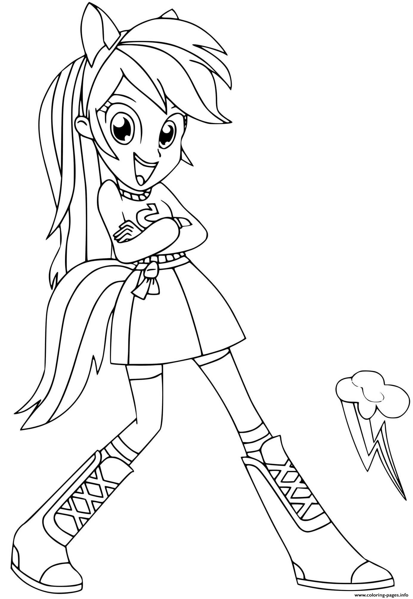 Coloriage My Little Pony Rainbow Dash : coloriage, little, rainbow, Rainbow, Little, Equestria, Girls, Coloring, Pages, Printable