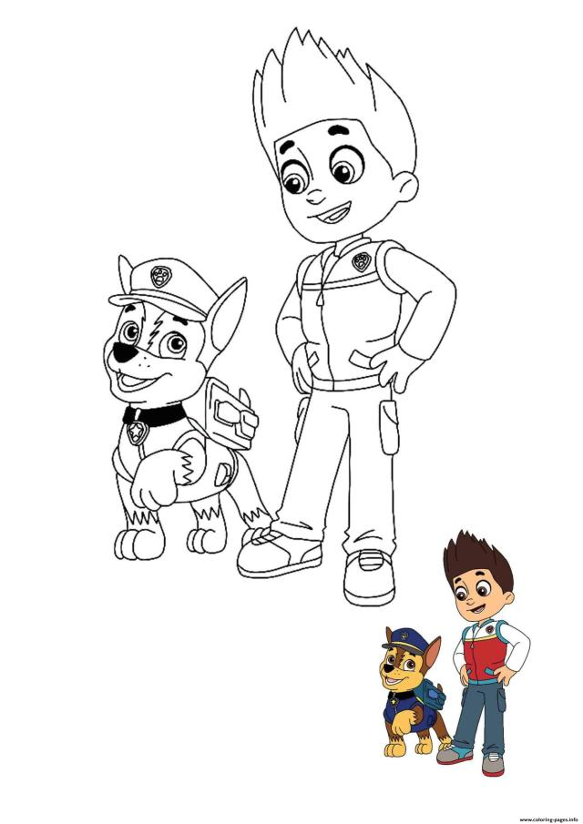 Ryder And Chase Coloring Pages Printable