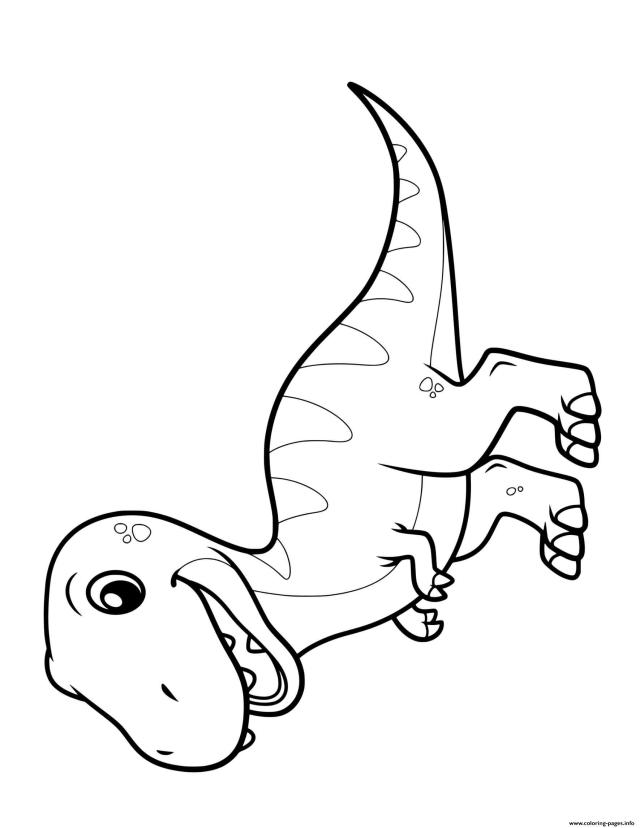 Dinosaur Cute T Rex Coloring Pages Printable