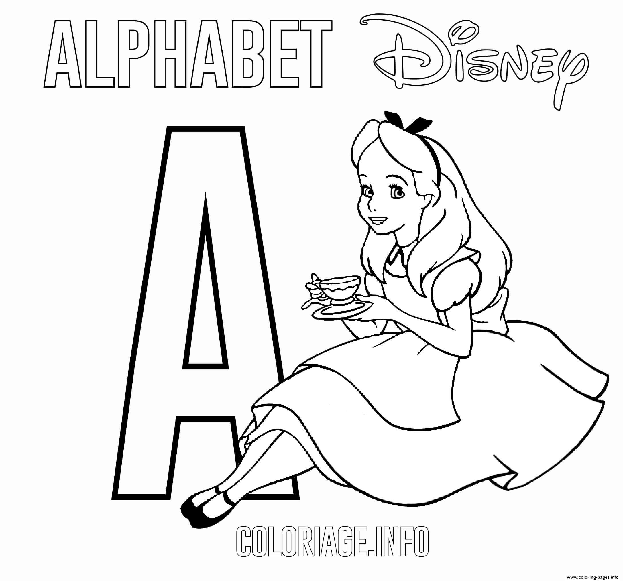 A For Alice Coloring Pages Printable