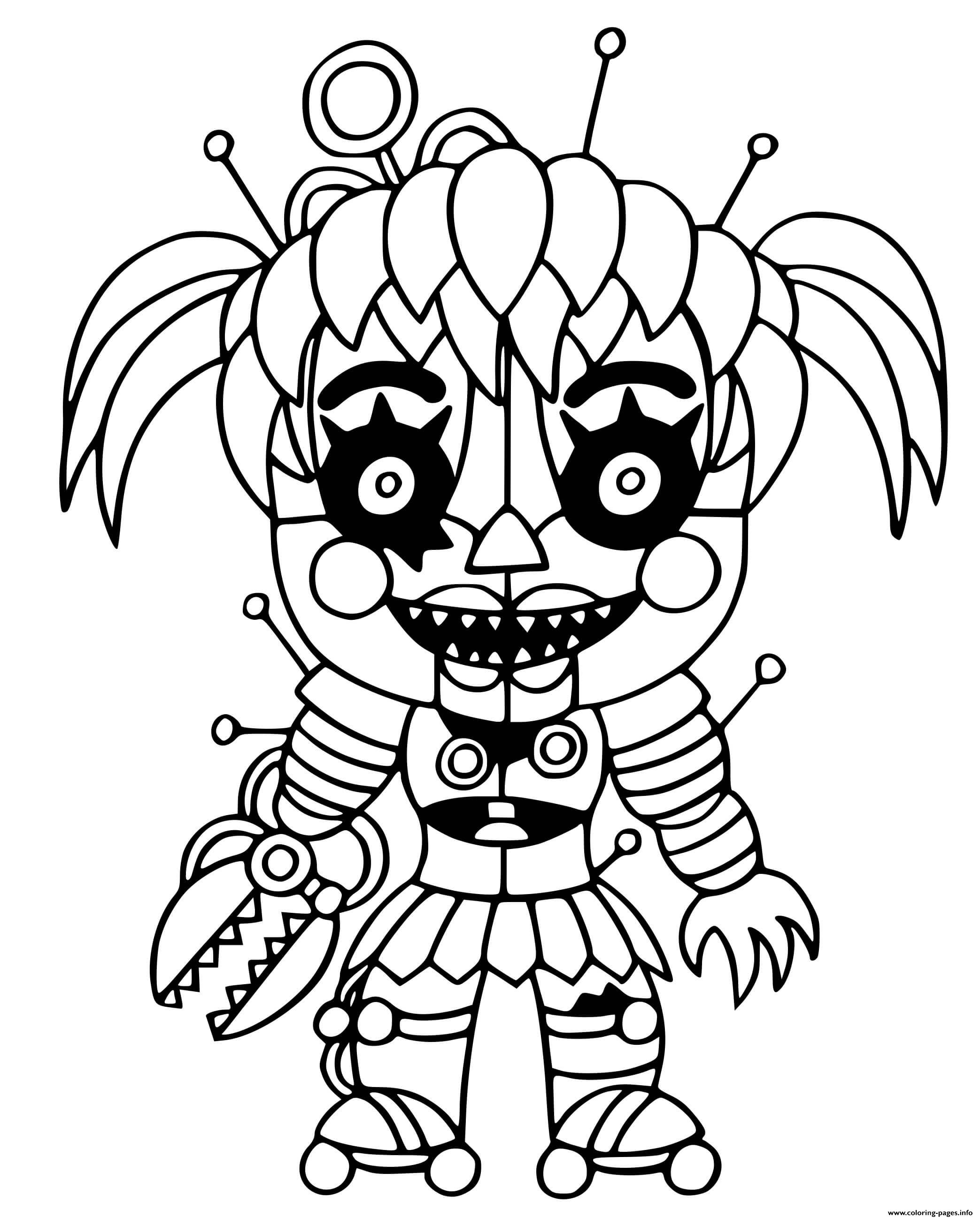 Fnaf Baby Coloring Pages : coloring, pages, Scrap, Coloring, Pages, Printable