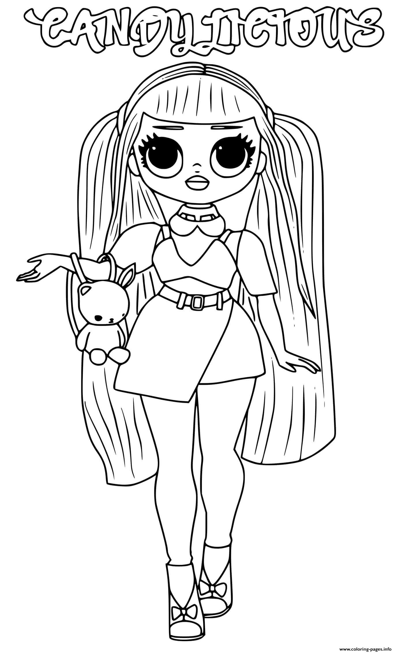 Lol Omg Coloring Pages Printable : coloring, pages, printable, Candylicious, Coloring, Pages, Printable