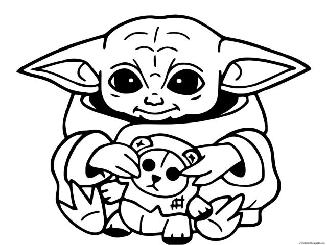 Baby Yoda Mandalorian Jedi Temple Coloring Pages Printable