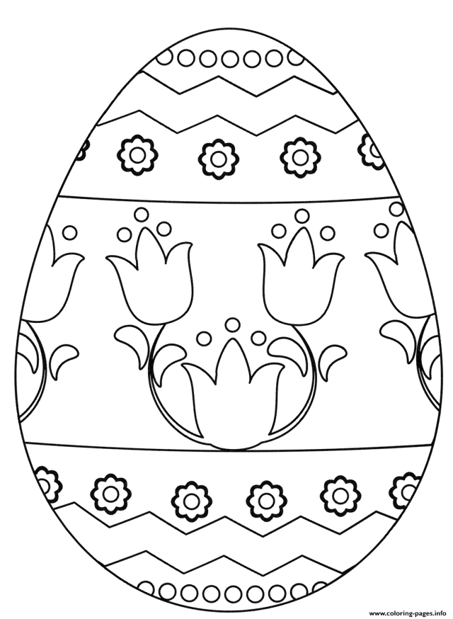 Easter Egg Flowers Coloring Pages Printable