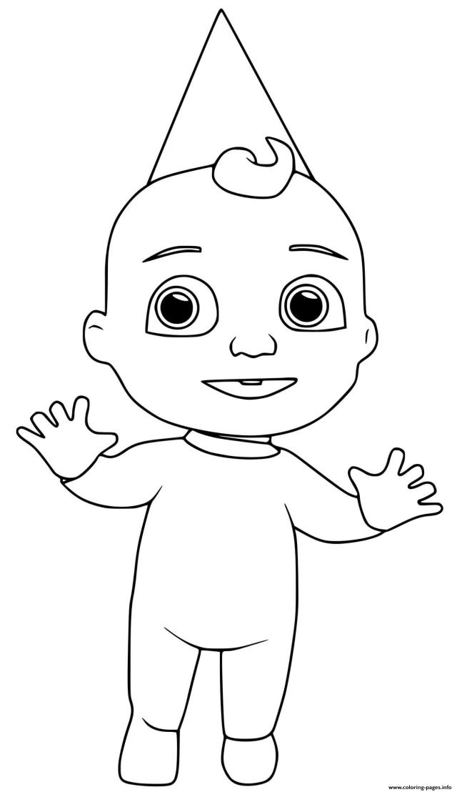 Cocomelon Jay Is Standing Coloring Pages Printable