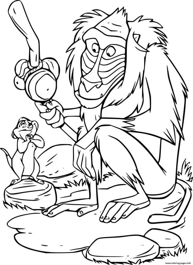 Timon And Rafiki Coloring Pages Printable