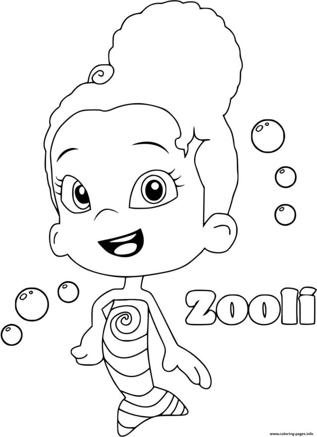 Zooli Bubble Guppies Coloring Pages Printable