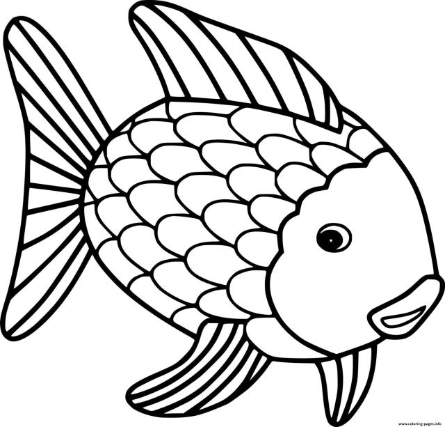 Big Goldfish Coloring Pages Printable
