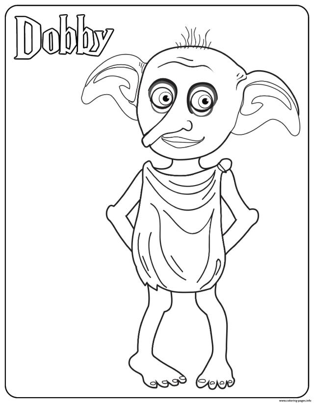Dobby Coloring Pages Printable