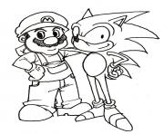Sonic Coloring Pages Free Printable