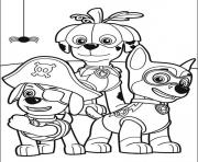 Paw Patrol Coloring Pages Halloween Free