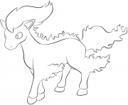 078 rapidash pokemon Coloring pages Free Printable