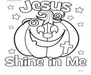 Shine The Light Of Jesus Pumpkin Coloring Coloring Pages