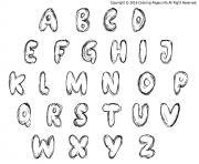 Graffiti Alphabet Style Bubble Letters Coloring Pages