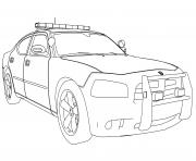Police Car Coloring Pages Free Printable