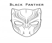 Panther Face Coloring Pages