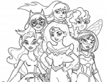 Wonder Woman Dc Superhero Girls Coloring Pages