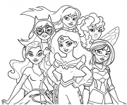 Wonder Woman Dc Superhero Girls Coloring Pages