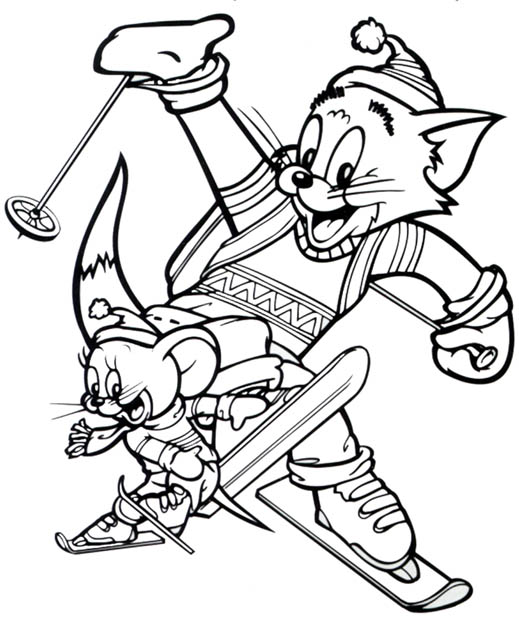 Tom and Jerry The Movie Coloring Printable
