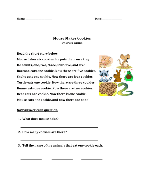 small resolution of 1st Grade Story Reading Worksheet – coloring.rocks!
