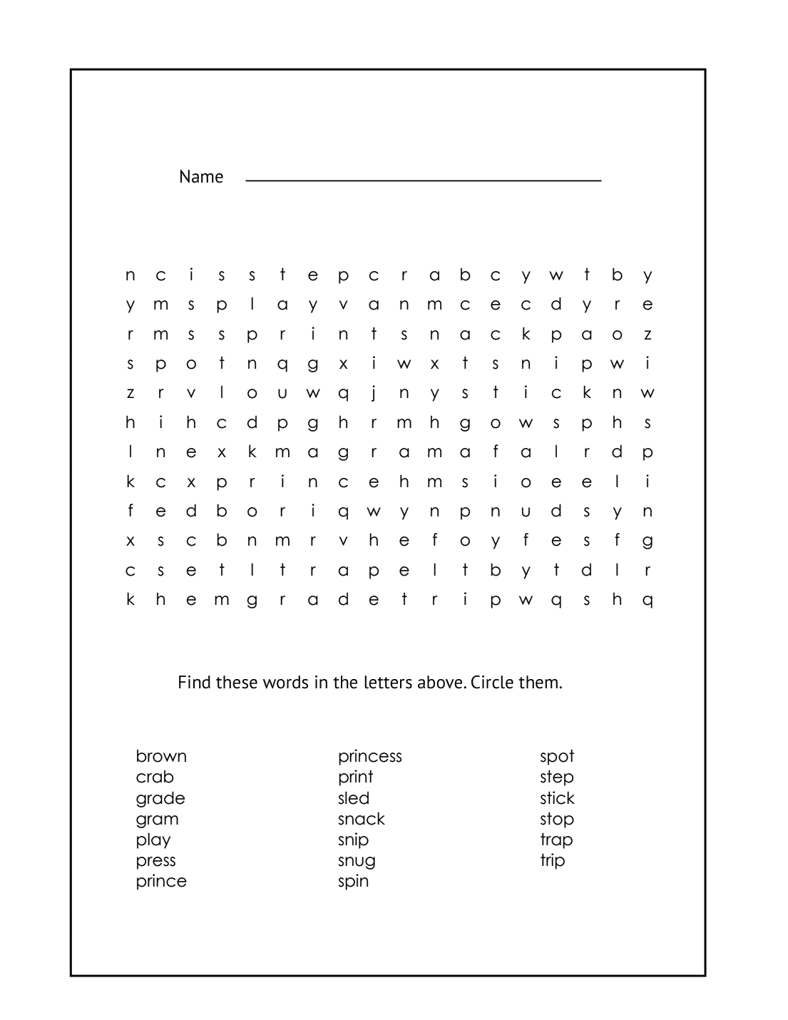 hight resolution of 1st Grade Word Search – coloring.rocks!