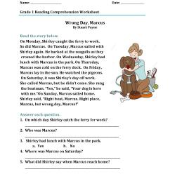 1st Grade Reading Comprehension Worksheet – coloring.rocks! [ 2200 x 1700 Pixel ]