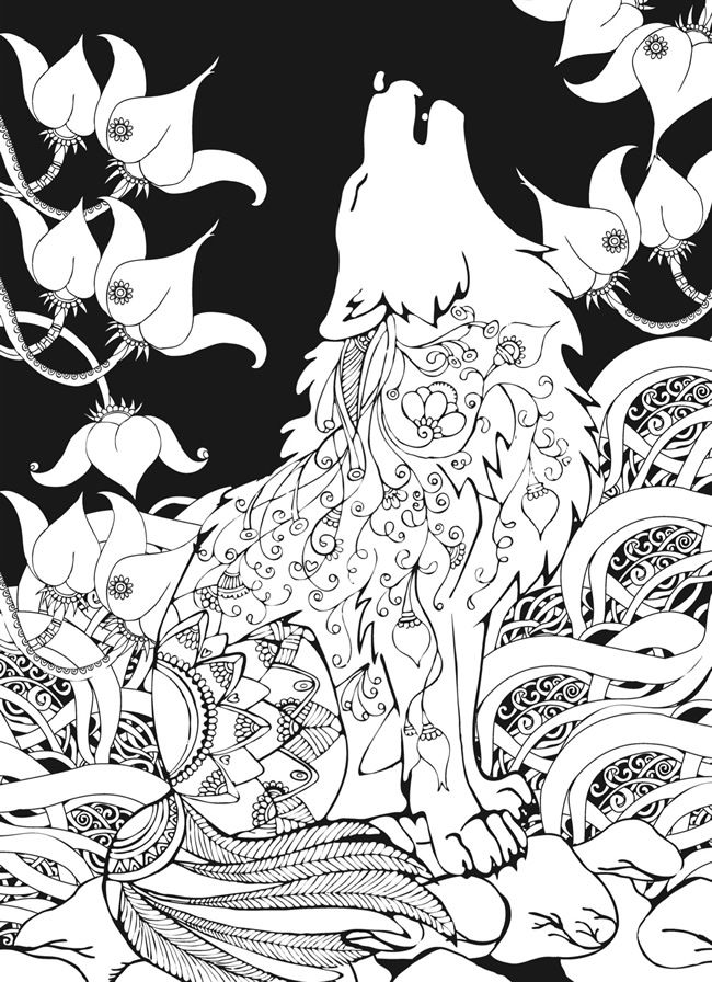 Coloring Pages Wolves : coloring, pages, wolves, Coloring, Pages, Coloring.rocks!