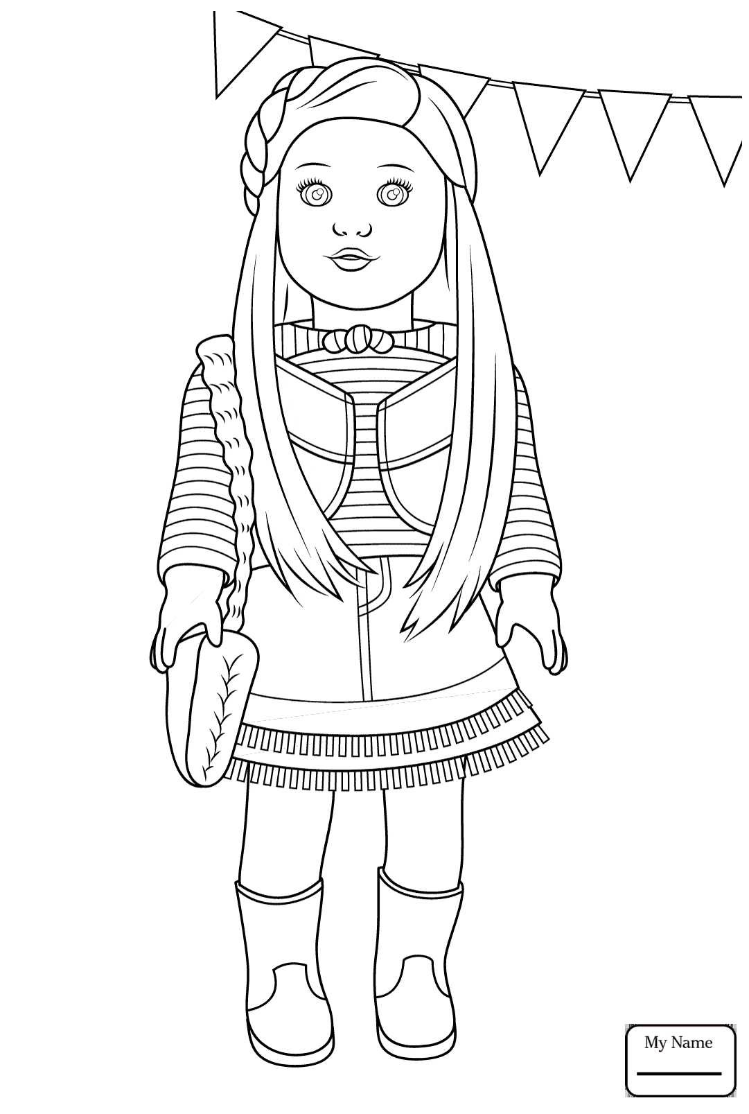 American Girl Doll Coloring Pages : american, coloring, pages, American, Coloring, Pages, Coloring.rocks!