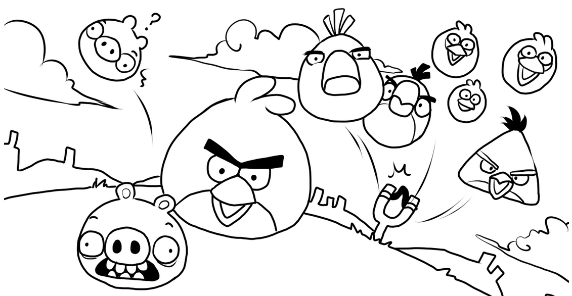 Angry Birds Pencil Sketch Download Free Mock Up
