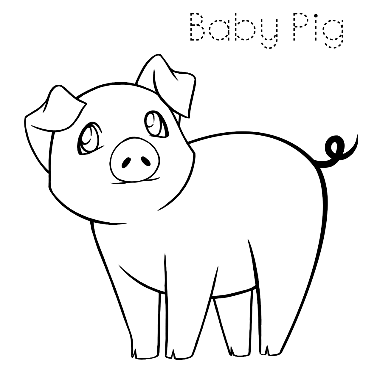 Baby Pig Coloring Pages Coloring Rocks