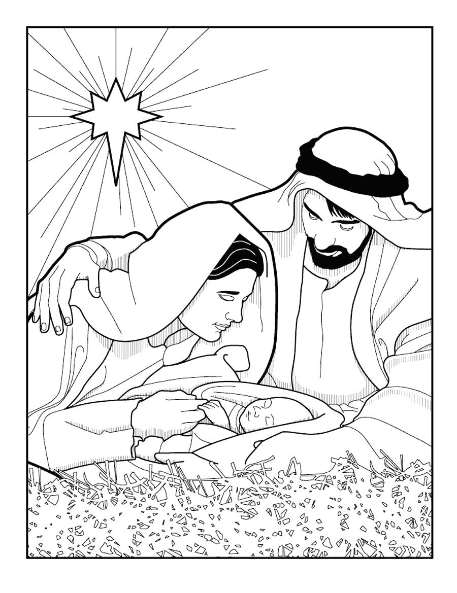 Jesus Birth Coloring Page : jesus, birth, coloring, Birth, Jesus, Christ, Coloring, Pages, Coloring.rocks!