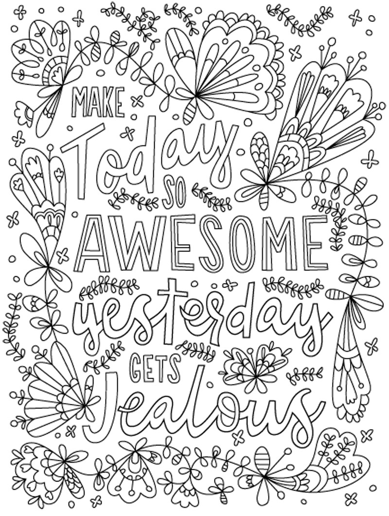 Positive Quotes Coloring Pages : positive, quotes, coloring, pages, Coloring, Quotes, Coloring.rocks!