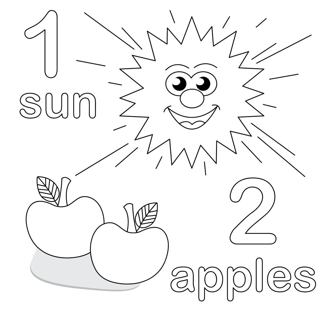 Count And Color Worksheet For Preschool Coloringcks