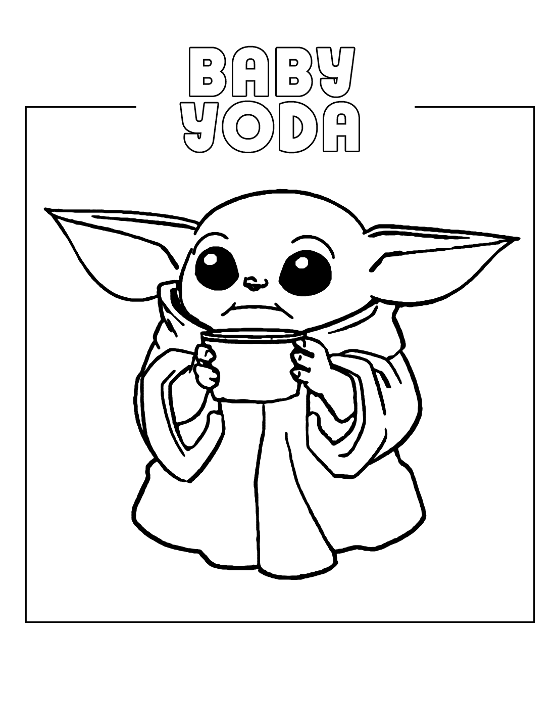 Free Baby Yoda Coloring Pages : coloring, pages, Coloring, Pages, Coloring.rocks!
