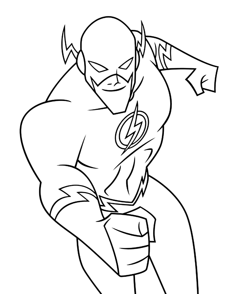 The Flash Cartoon Drawing : flash, cartoon, drawing, Flash, Cartoon, Coloring, Coloring.rocks!