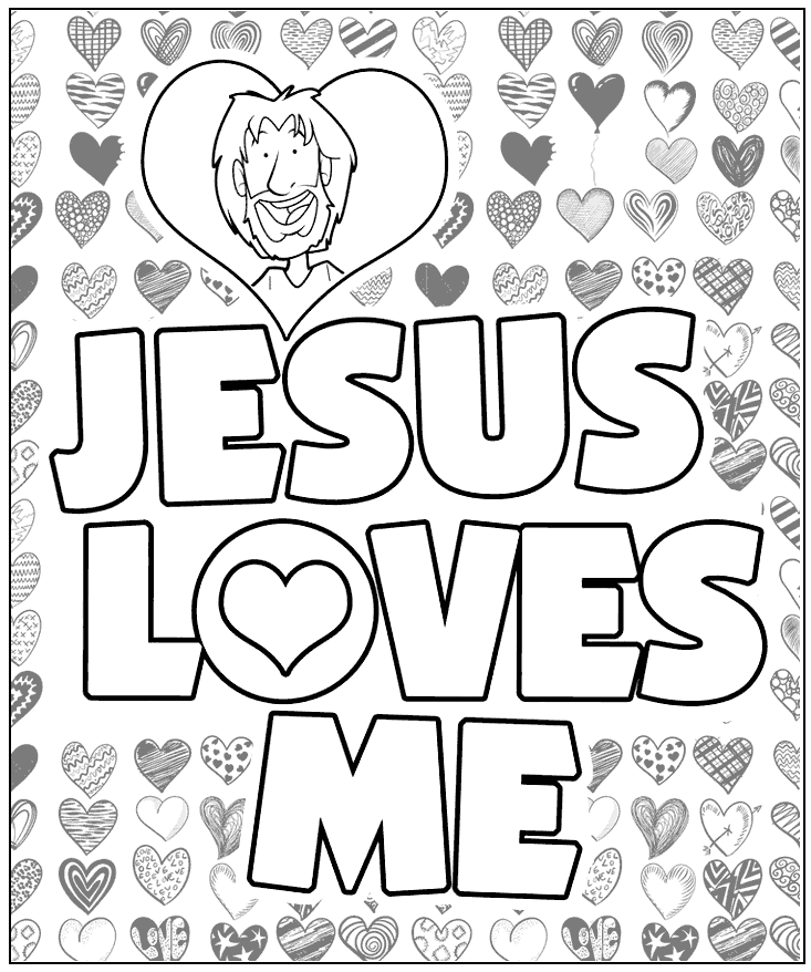 Jesus Loves Me Coloring Pages Coloring Rocks