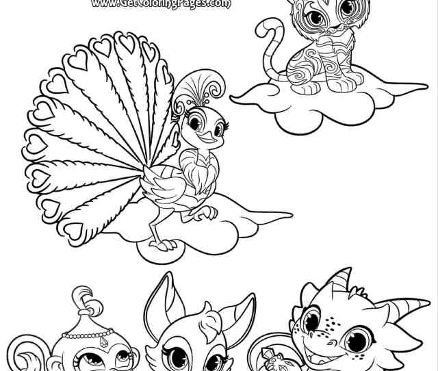 Shimmer And Shine Coloring Pages Coloring Rocks