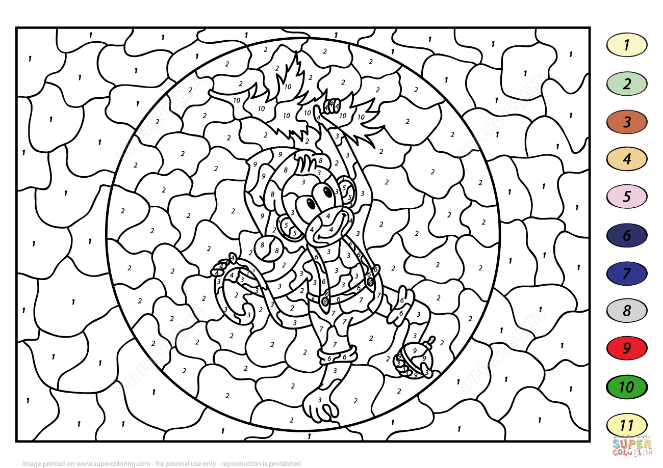 Christmas Color By Number Printables Coloringcks