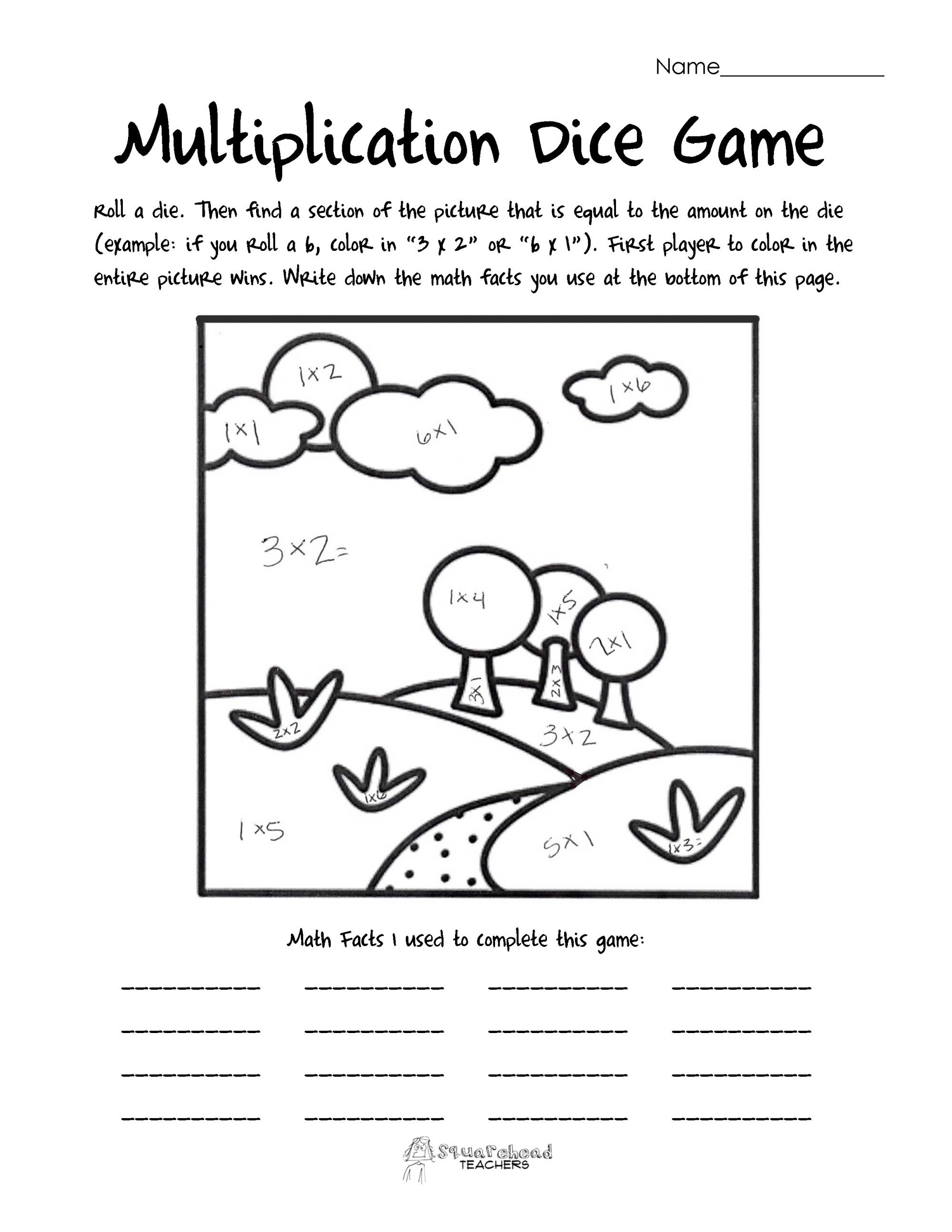 hight resolution of Multiplication Worksheets – coloring.rocks!